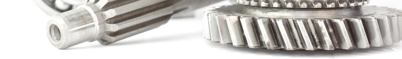 used cogwheel isolated on white background